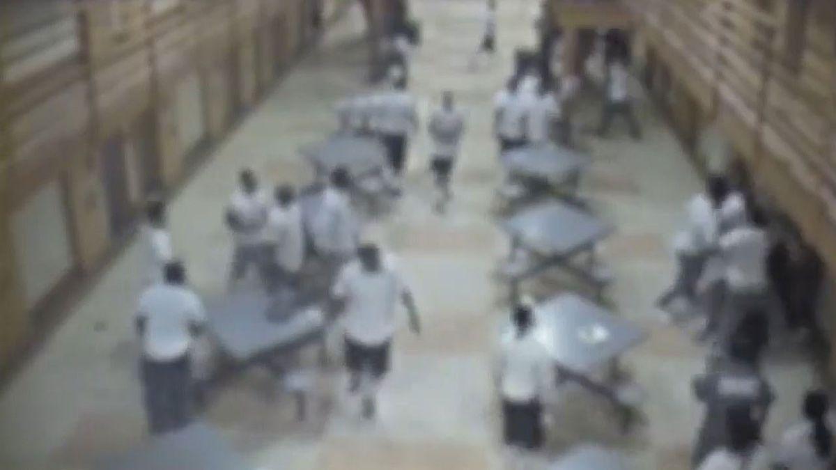 Surveillance video shows assault that injured 3 correctional officers at Souza-Baranowski