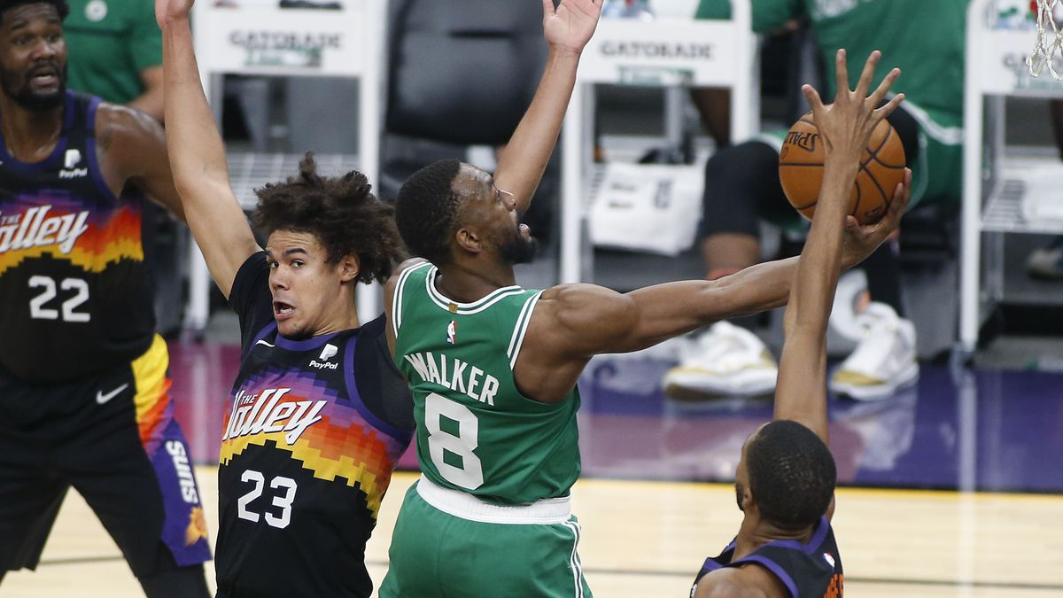 Suns hang on for 100-91 victory over the Celtics