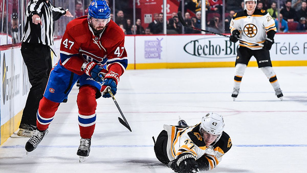 Canadiens score late to beat BruinsBruins Score