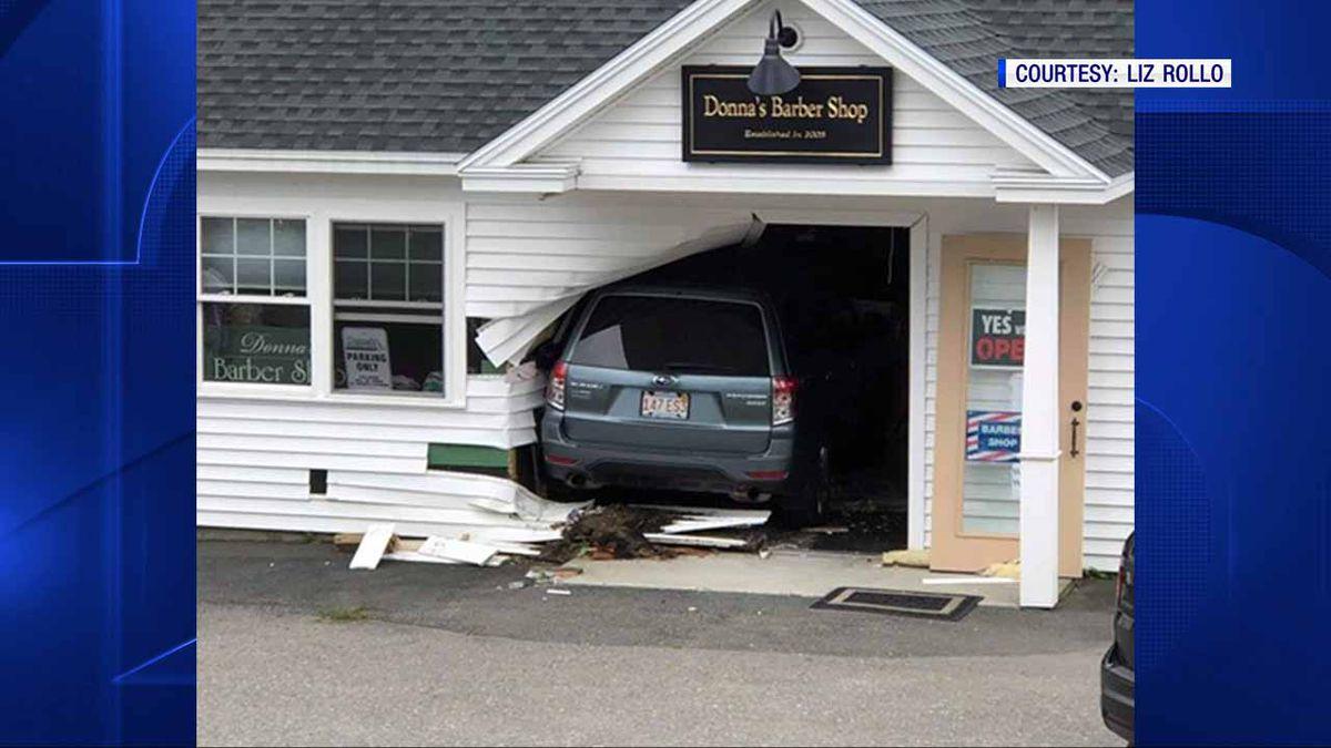 No one hurt when SUV crashes into Ashburnham barber shop