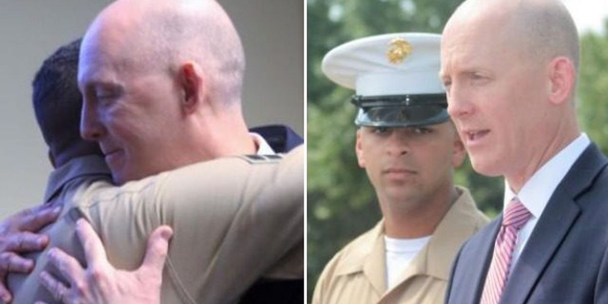 Kidnapped as a newborn, US Marine meets FBI agent who found him
