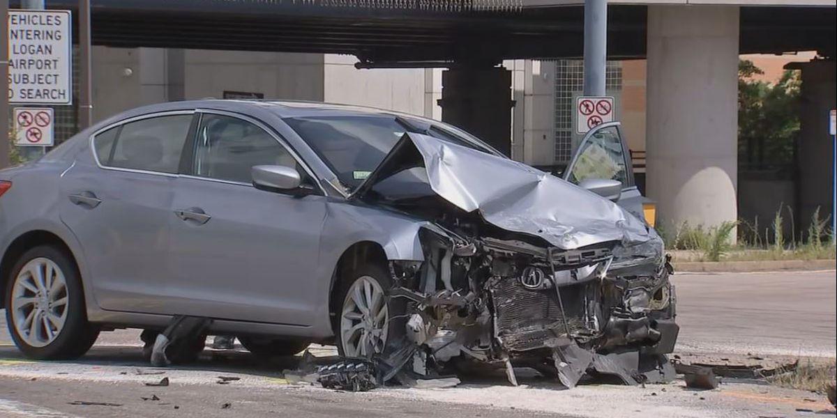 MSP trooper hospitalized after crash in Boston