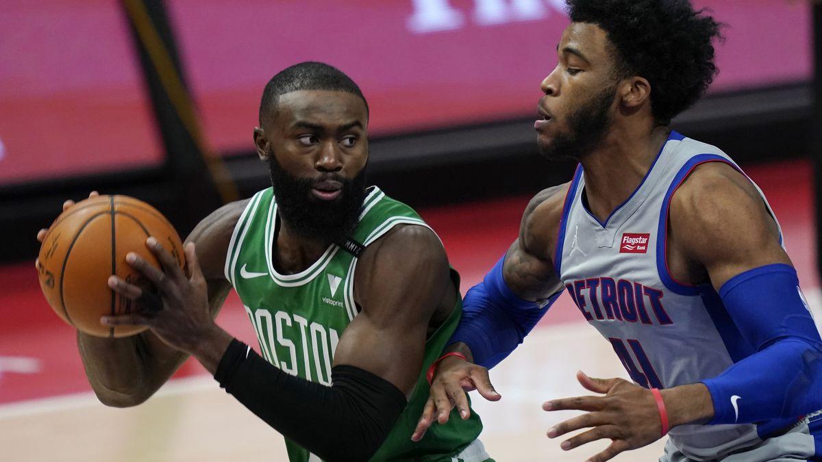 Grant's 24 points lead Pistons past Celtics for 1st win