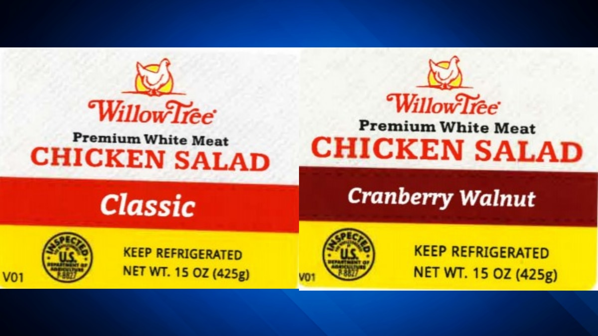 Willow Tree Poultry Farm issues recall for ready-to-eat chicken salad