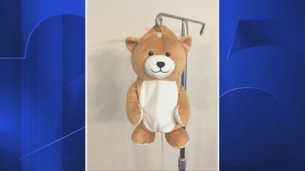 Connecticut girl invents Medi Teddy to camouflage IV bags for young patients