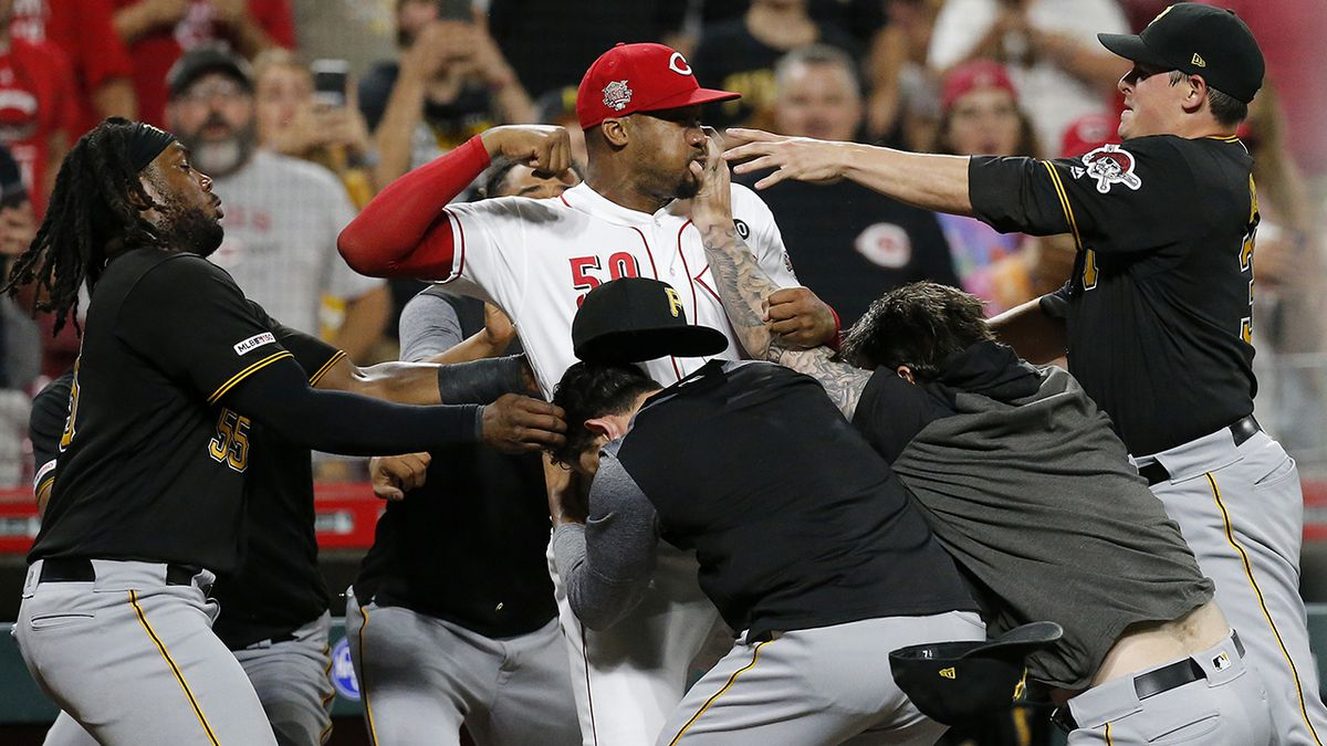 WATCH: Brawl breaks out between Pirates, Reds