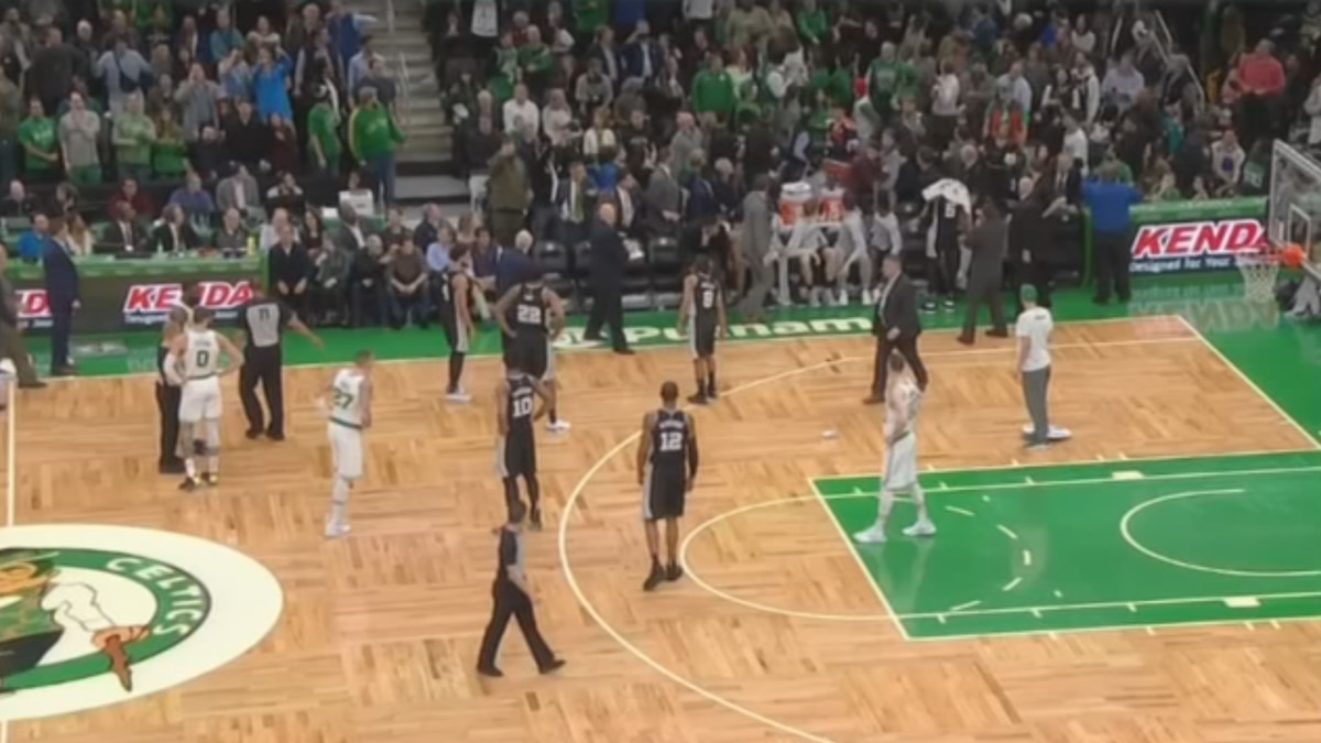 Celtics fan arrested after throwing drink on court ordered to stay away from TD Garden