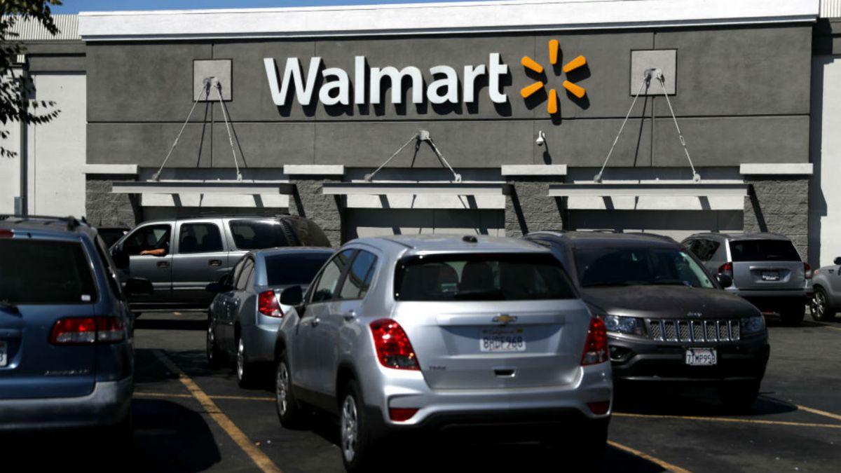Truck explodes in Walmart parking lot