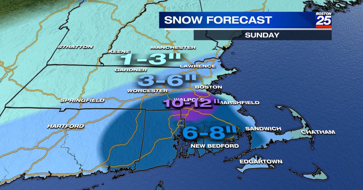 Live updates: Cleanup begins after heavy snow blankets region south of Boston - Boston 25 News