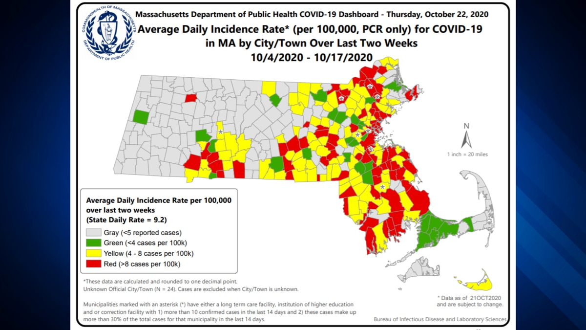 77 Communities In Ma Now Considered High Risk Zones For Covid 19
