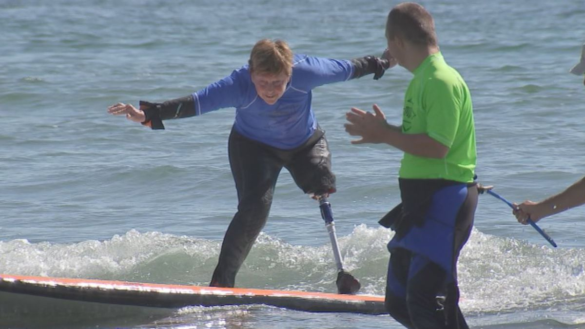 Surf's up! Non-profit helps adaptive athletes hit the waves