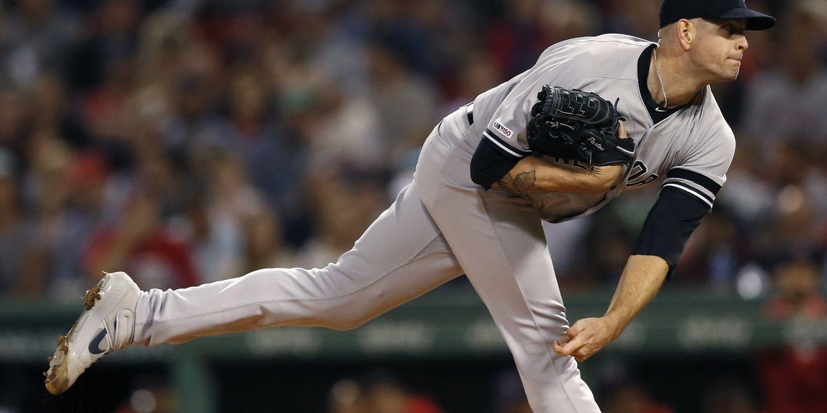 Yankees end Boston's three-year run atop AL East, win 5-0