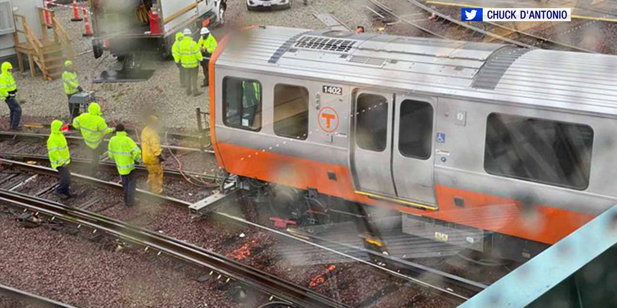 MBTA investigating derailment of new Orange Line train car