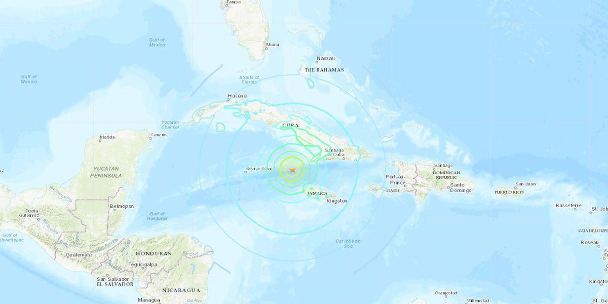 Powerful 7.7 magnitude earthquake reported between Cuba, Jamaica