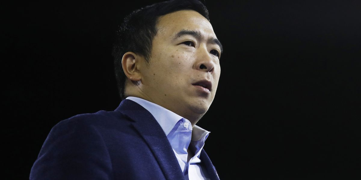 Yang, who created buzz with freedom dividend, ends 2020 bid