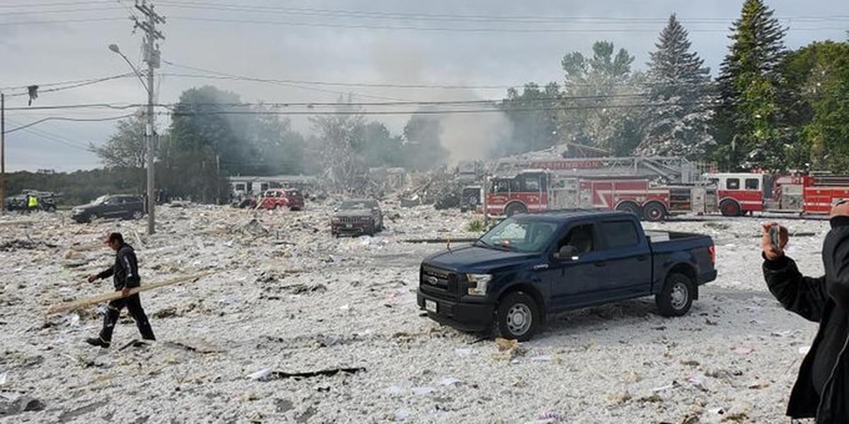 'Building is gone': Propane blast kills firefighter, hurts 6