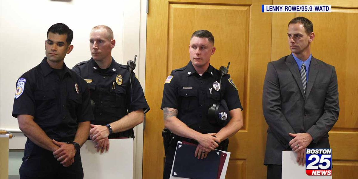 Neighbor, first responders recognized for saving man from burning Abington home