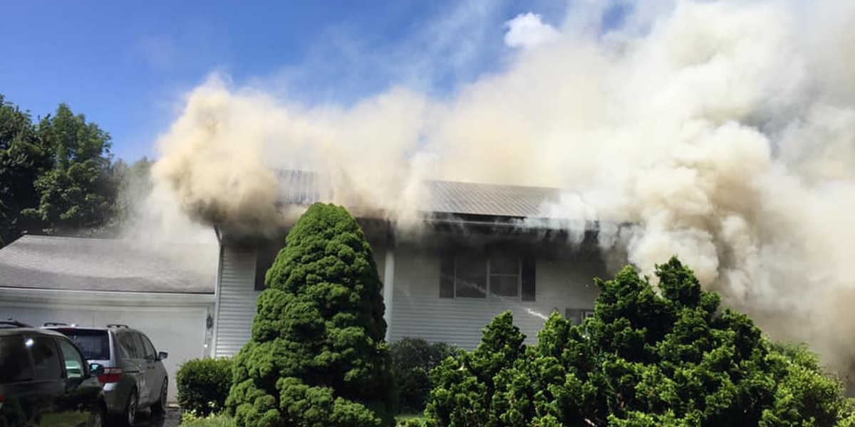 Fire damages house in Shrewsbury
